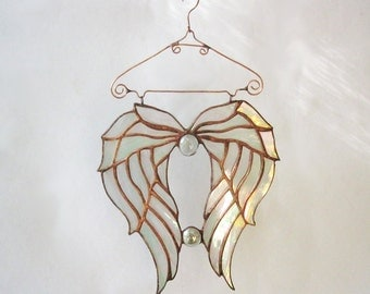 Stained Glass Angel Wings. Suncatcher Tiffany .Stained glass patterns