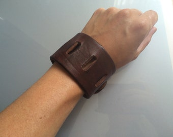 Grove leather bracelet Brown, male/female