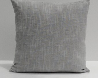 Gray Pillow, Throw Pillow Cover, Decorative Pillow Cover, Cushion Cover, Pillowcase, Accent Pillow, Toss Pillow, Textured, Linen Pillow