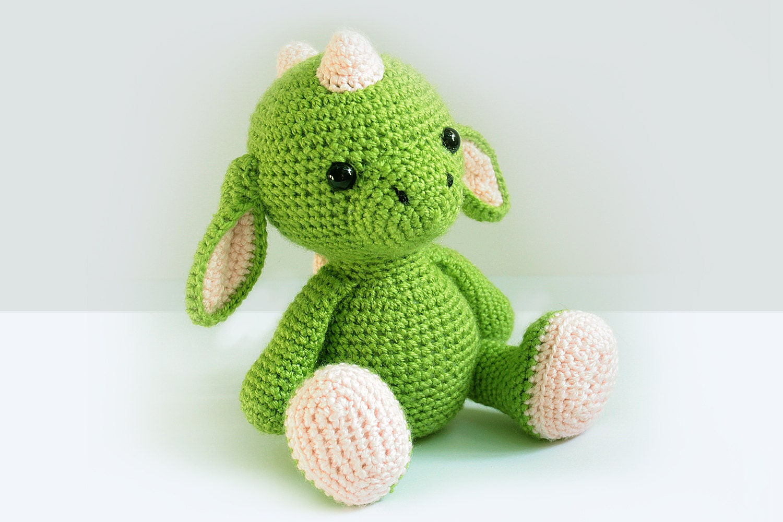 Amigurumi Stuffed Animals Patterns : Crochet Dragon PATTERN -Amigurumi Dragon pattern-Crochet ...