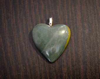 Blue / Green Gympieite Gemstone Pendant with Sterling Silver Bale