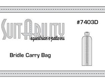 PDF Bridle Carry Bag Pattern
