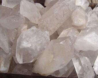 1/2 lb raw clear quartz crystals