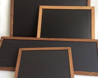 Rustic chalkboard set - magnetic chalkboard - 4 chalkboards