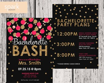 Bachelorette Party Invitation - Custom Bridal Shower Invitation - DIGITAL - DIY Printable Invitation