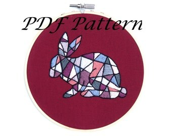 Rabbit Embroidery Pattern PDF