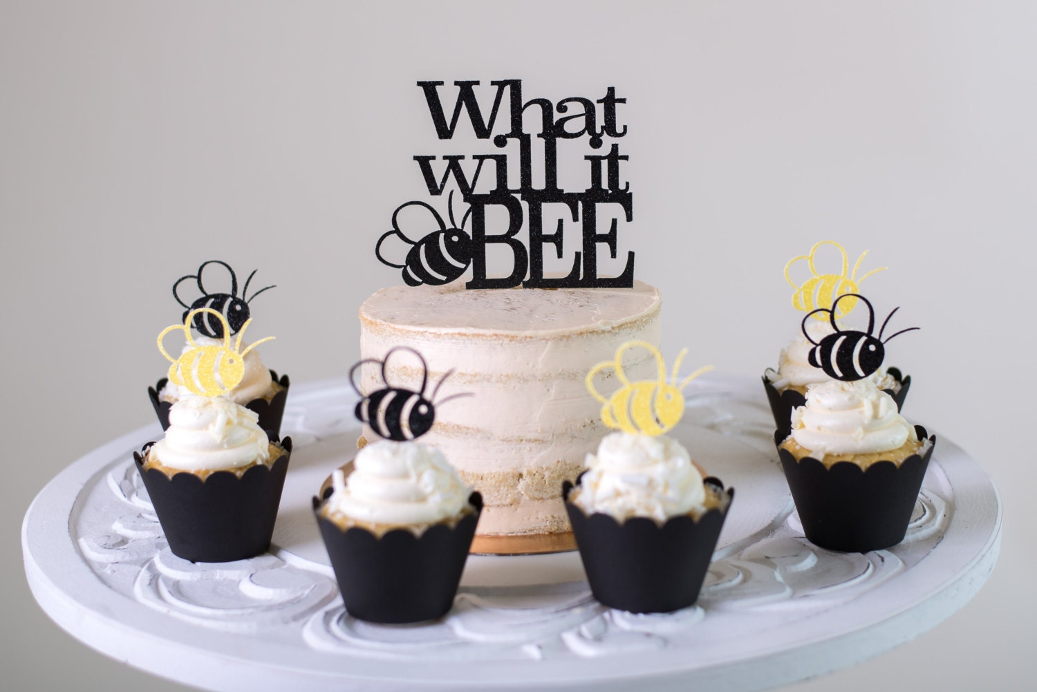 What Will It Bee Gender Reveal Cake Topper