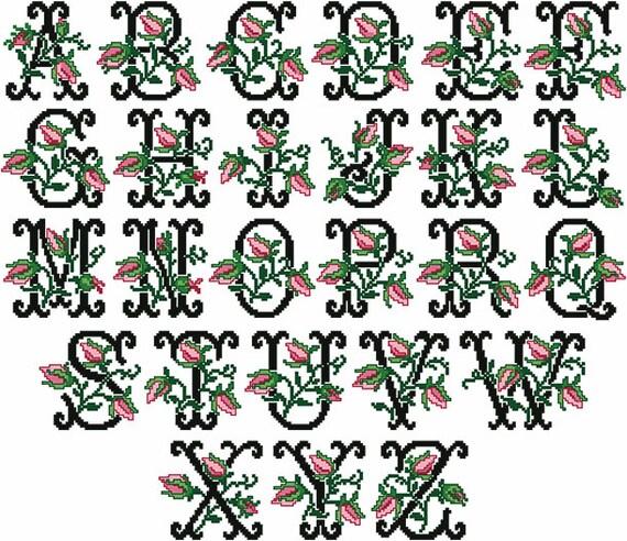 Old fashioned charm alphabet cross stitch machine