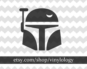 Star Wars Decal, Boba Fett Vinyl Decal,Starwars Decal Sticker, Boba Fett Car Decal, Star Wars Car Sticker, Wall Decal