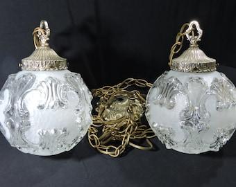 FREE SHIPPING!!  Gorgeous Hollywood Regency Hanging Pendant Lights Ornate