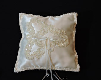 Made with Tender Loving Care by Grandma - Vintage Wedding Ring Bearer Pillow