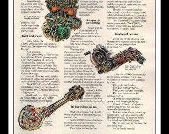 "Vintage Print Ad March 1981 : Honda Motorcycle ""Follow the leader...""  Wall Art Decor 8.5"" x 11"" Print Advertisement"