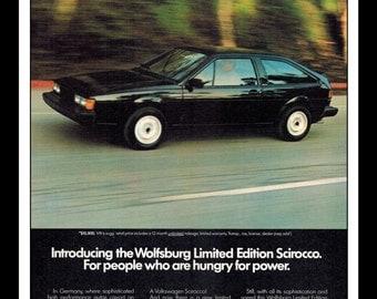 "Vintage Print Ad July 1983 : Volkswagen LTD Edt. Scirocco Car Automobile Advertisement Wall Art Decor Color 8.5"" x 11"""