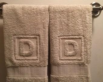 Monogrammed Embossed Hand Towels