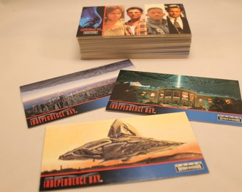 Independence Day, ID4 Trading Cards Full Set of 72 Widevision Cards by Topps, Will Smith, Jeff Goldbloom
