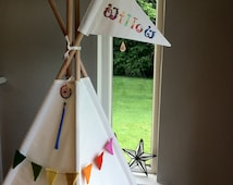 Kids Teepee play tent with poles option