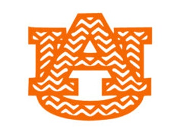 Chevron Auburn Football Decal/Sticker