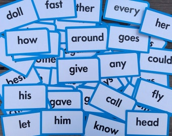 Flash Cards, Word Flash Cards, Flash Cards with Words, Lot of 53