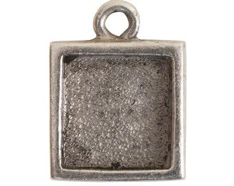 Nunn Design ® Itsy Link Single Loop Antique Silver Square