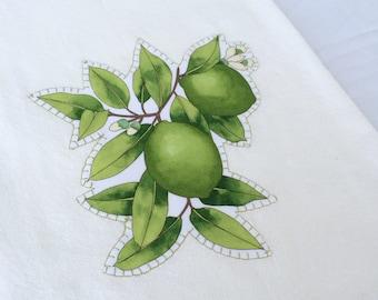 Lime Floursack Towel  28x28~