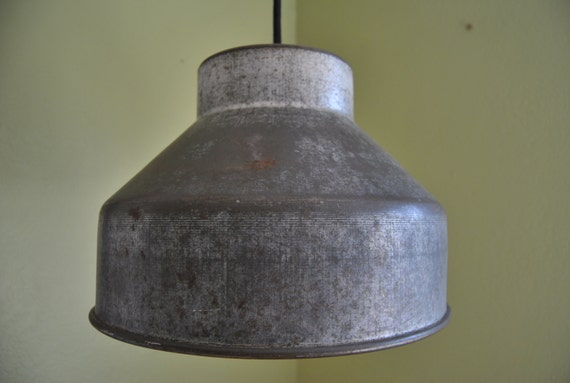 Rustic Pendant Light Vintage Farmhouse Kitchen Galvanized Tin