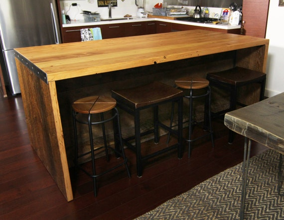 7 ft kitchen island with shelving for 7 foot kitchen island