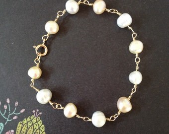 Peaches and Cream bracelet