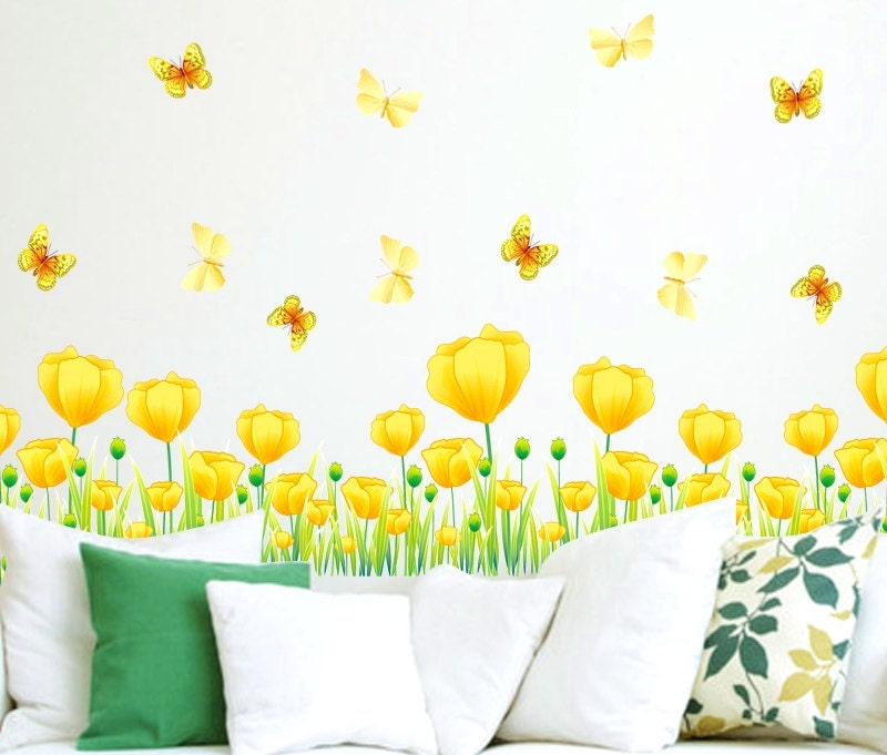 tulip border wall stickers - photo #20