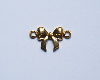 Bow tie knott gold plated connector