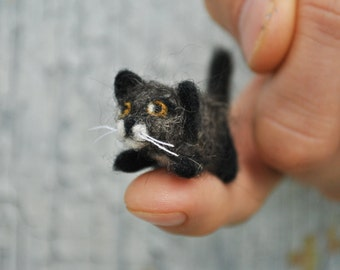 Custom Needle Felted Micro Cats Made to Order