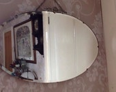 Bevelled Edge Oval Vintage Art Deco 1930-40s Mirror
