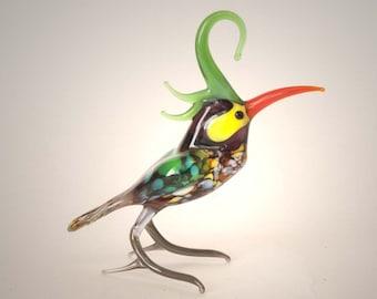 Hand-Blown Art Glass Parrot Figurine (code 179)