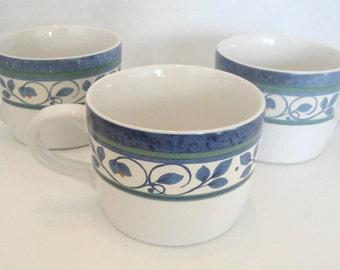 Vintage Pfaltzgraff Orleans Teacups Set of 3
