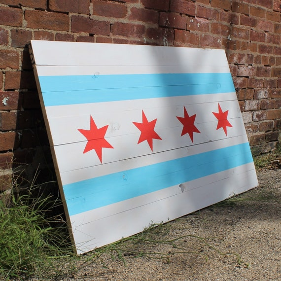 Chicago Pallet Flag Decor Home Decor By Palletwoodideas