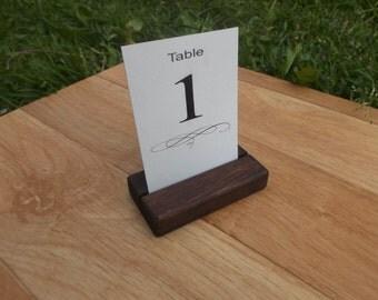 10 Wood place card holders, Table number holders, Wedding cardholder, Wedding decor, Cafe, Restaurant table number holder, Wedding, Rustic