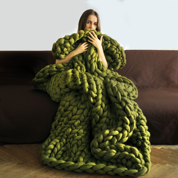 Big Knitting With Arms : Ohhio s grande punto blankets chunky blanket giant by