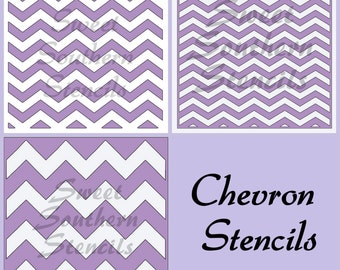 Chevron Cookie Stencils (3 separate stencils)