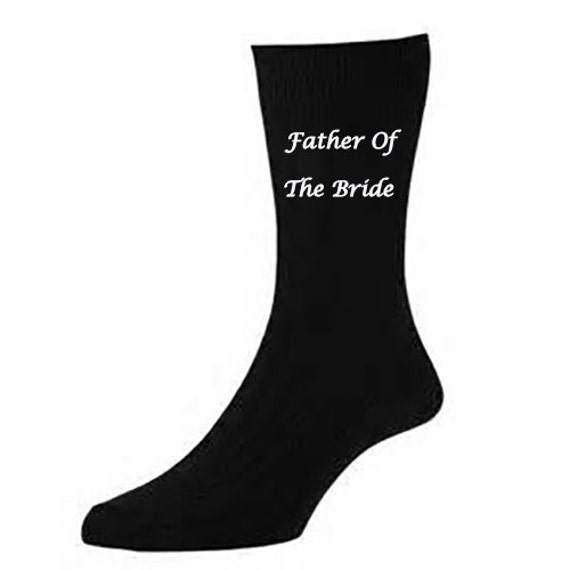 Personalised Wedding SOCKS Father Of The Bride