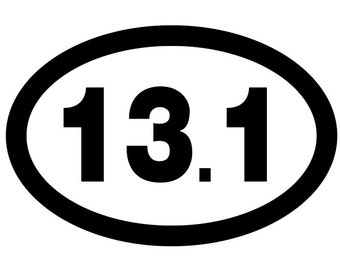 13.1 Oval Decal Vinyl or Magnet Bumper Sticker