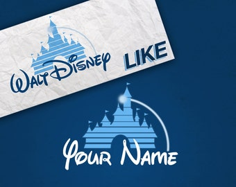 Personalized Walt Disney Poster - Logo Like