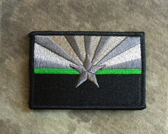 Subdued Thin Green Line ARIZONA State Flag Patch