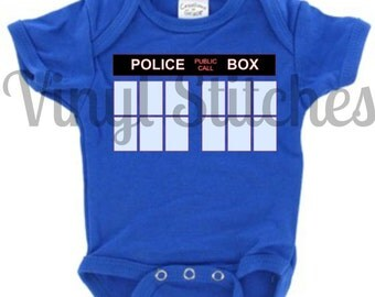 Doctor Who Police Box Onesie