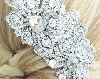 Crystal Bridal Comb, LOVE NEST,  Crystal Bridal Headpiece, Luxury Wedding Headpiece, Couture Bridal Headpiece, Bridal Comb,  Headpiece, Comb