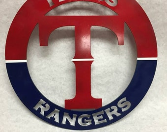 Texas Rangers circular sign