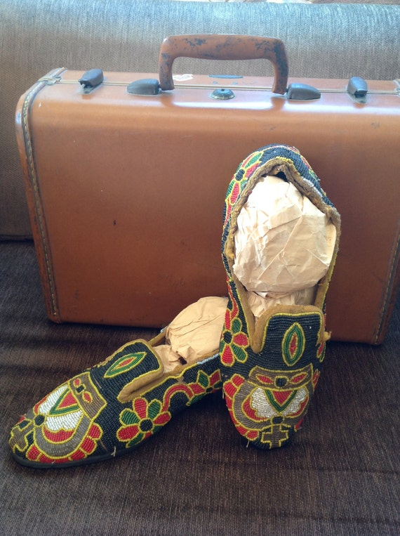African Beaded Shoes   Yoruba Nigeria