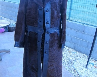 coat lambskin leather vintage t36