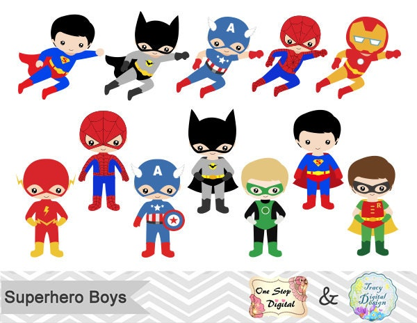 Clip Art Clipart Superhero superhero clip art etsy 24 little boy superheros digital boys clipart party super hero 0190