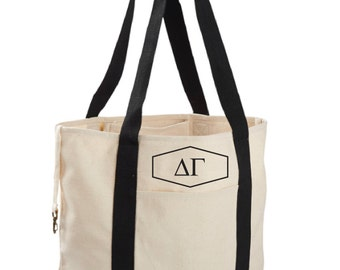 Delta Gamma Canvas Tote Bag