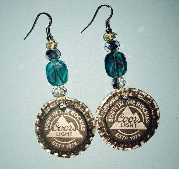 Coors light recycled beer bottle cap fish hook by capsncrafts - Beer bottle caps recyclable ...