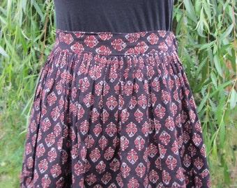 80 s style short block print skirt